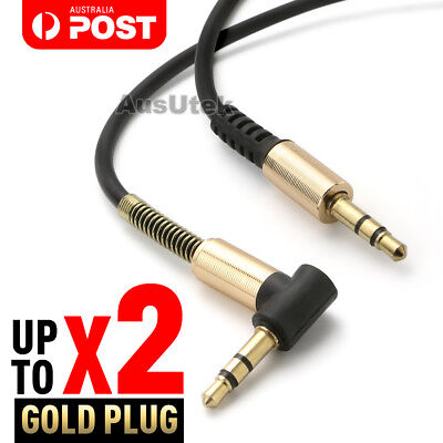 Aux 3.5mm Jack Male to Male Right Angle Audio Cable Auxiliary Extension Cord 1M