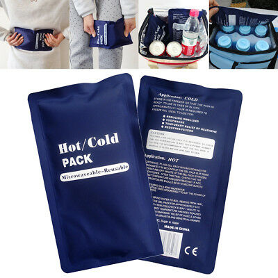 Soft Reusable Cold Hot Gel Pack Heat Therapy Wrap Microwaveable Pain Relief NEW