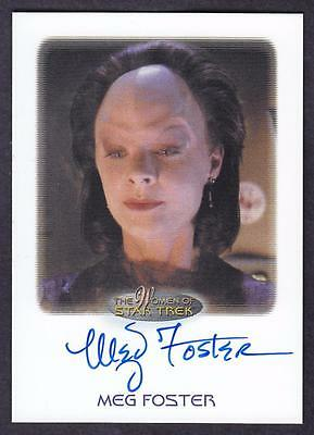 2017 Women Of Star Trek  Autograph / Auto Meg Foster As Onaya