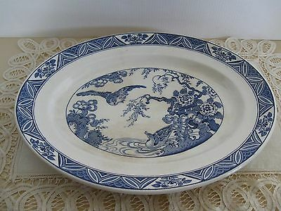 "Bristol ""Mallard"" Blue and White Meat Platter"