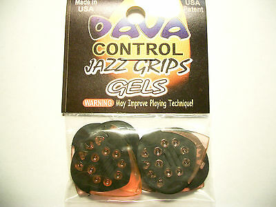 "6 Dava Control ""Jazz Grips"" Gels Picks Plektren orange Hang Bag"