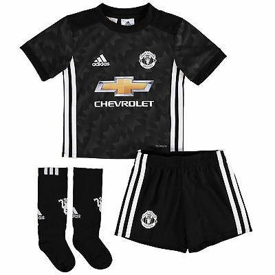 adidas Childrens Football Official Manchester United Away Mini Kit 2017-18 Top