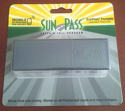 Florida SunPass Portable Toll Road Transponder, Epass Compatible NEW sun pass