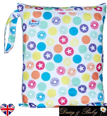 Waterproof reusable nappy wet changing bag baby swim dirty clothes travel XL UK