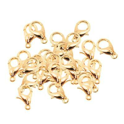 50 Pieces Lobster Swivel Clasps Clips Necklace Bracelet Findings Fastener