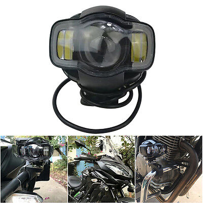 4500LM 20W LED Auxiliary Spot Fog Round Passing Light Lamp For BMW y Motorcycle