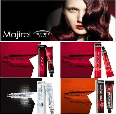 Loreal Majirel Majirouge Majicontrast High Lift Permanent Profesional Hair Color