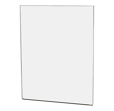 "Ad Frame Sign Holder 8 1/2""W x 11""H Wall Mount No Holes Clear Acrylic"
