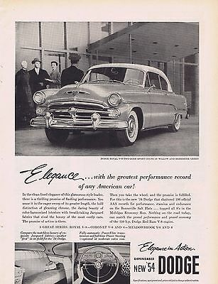 1954 Dodge Car Ad Elegance in Action