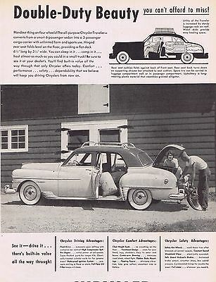 The Beautiful 1950 Chrysler Traveler Ad