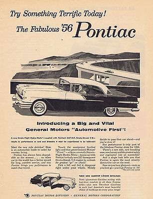 1955 Pontiac Ad something terrific today