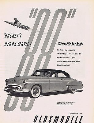 1950 Oldsmobile Ad Rocket 88
