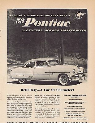 1953 Pontiac Ad a car of character