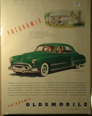 1948 Olds Oldsmobile ad Futuramic Hydramatic drive