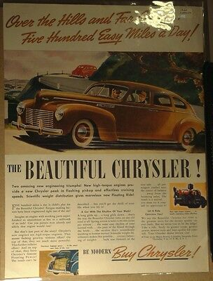 1940 Chrysler Sedan Ad Beautiful Chrysler