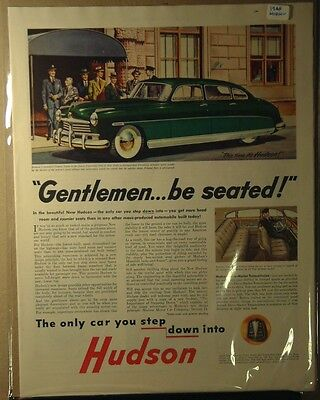 1948 Hudson Ad Gentleman Be Seated