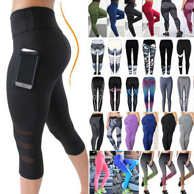 Women's Mesh Workout Sport Pants Running Fitness Sweat Shaper Vest Yoga Leggings