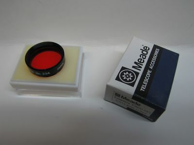 """1.25"""" Meade LT Red #23A Telescope Eyepiece Filter Series 4000 Glass Coated NEW!"""
