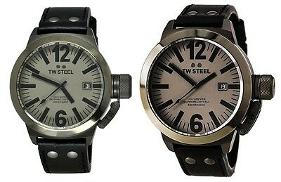 TW Steel Men's CE1051 CEO Canteen Gray Dial Gunmetal PVD - Choice of 45mm/50mm