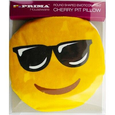 Hot Cherry Pit Pillow Warmer Funny Smiley Emoticon Printed Microwave Emoji 21100