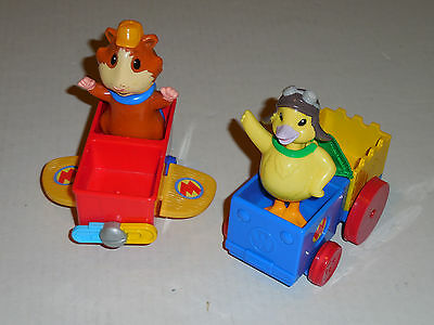 Wonder Pets Pull n Go Plane & Train With Bobble Heads Linny & Ming Ming Duck