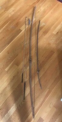RARE BRAZIL AMAZON INDIAN 2 BOWS AND TWO ARROWS Vintage