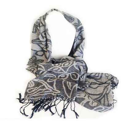 Irish Shamrock Design Scarf, Direct from Ireland! Black and Grey Design & Gift!