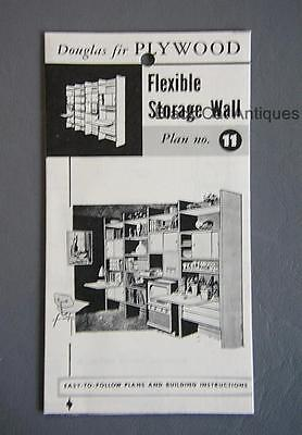 Orig Canadian Forest Products Douglas Fir Plywood Flexible Storage Wall Plan #11
