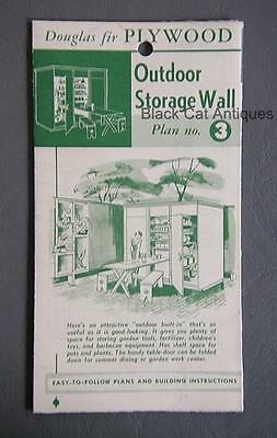 Orig Canadian Forest Products Douglas Fir Plywood Outdoor Storage Wall Plan #3