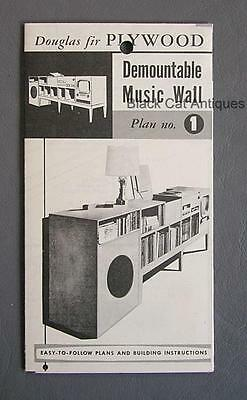 Orig Canadian Forest Products Douglas Fir Plywood Demountable Music Wall Plan #1