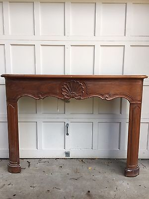 Antique Hand Carved Walnut Fireplace Surround/Mantel