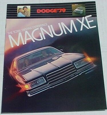 Mopar 1979 Dodge MAGNUM XE GT Dealer Brochure 79
