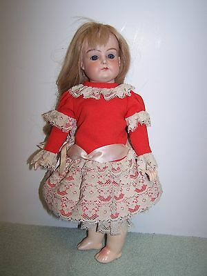Antique Reproduction French  Doll Artist Made Stunning Bisque Head