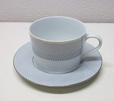 Block China     Grey Dawn       4 Cup & Saucers