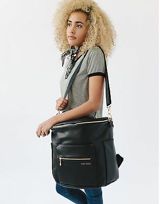 New Fawn Diaper Bag in Black  Vegan