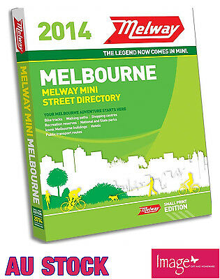 Melway Edition 2014 Small Print Edition Street Directory RRP $39.99