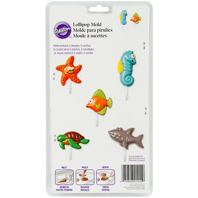 Lollipop Mold-Sea Creatures 5 Cavity (5 Designs)