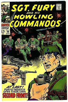 "Sgt. Fury #58 NM+ 1968 ""strict grading"" and ""1 day shipping"" - 10% off"
