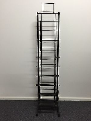 Black Metal Brochure Display Stand for A4 Size Paper Single Shelves