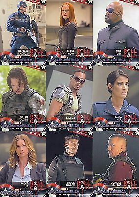 Captain America The Winter Soldier 2014 Upper Deck Base Card Set Of 100 Marvel