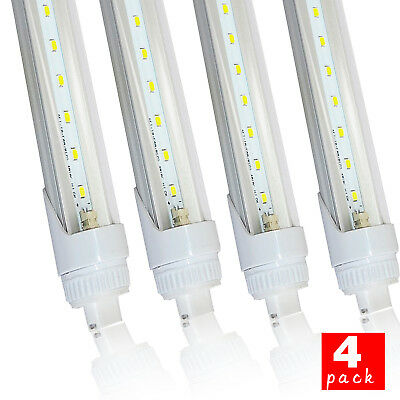 4Pack LED Tube Light 8ft 40W R17d Replacement Philips 38177-4 F96T12/CW/HO 5500K