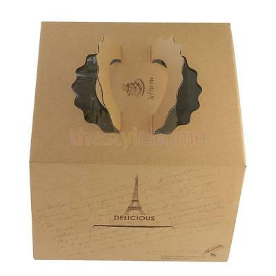 MagiDeal 10pcs Kraft Paper Tower Portable Cake Boxes Gift Boxes Party Gifts