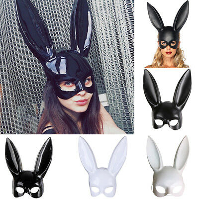 Bunny Mask Women Sexy Masquerade 2 Colors Rabbit Halloween Fancy Dress