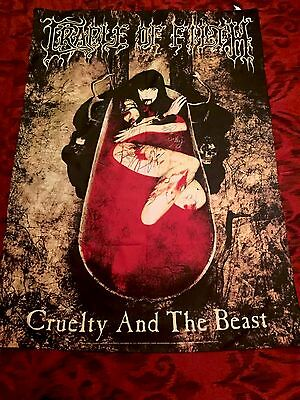 Cradle Of Filth Cruelty And The Beast Flag Autographed