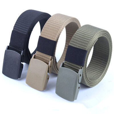 Casual Outdoor Sport Military Tactical Polyester Nylon Waistband Canvas Web Belt