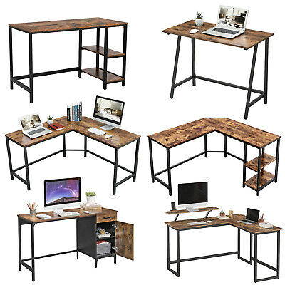 Songmics Computer Desk Office Desk Corner Computer Desk Workstation PC Desk