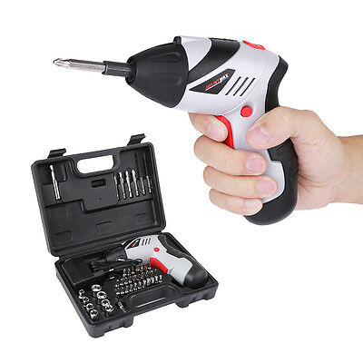 45Pcs Rechargeable Cordless 4.8v Electric Screwdriver Tool Bit Kit Charger Case