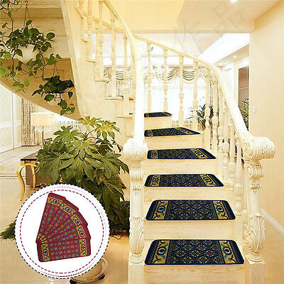 5PCS Stair Mat Self-adhesive Stair Treads Carpet Home Step Rug Pad 22.5 * 65cm