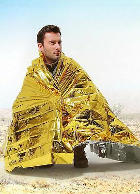 10 PCS 160x210CM PLASTIC LARGE EMERGENCY BLANKETSCE APPROVED FIRST AID BLANKET