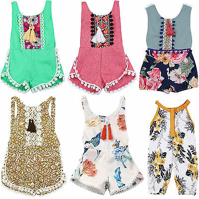 Newborn Infant Baby Girls Romper Jumpsuit Toddler Bodysuit Pants Outfit Clothes